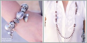 Image of Shades of Gray bracelet and a Enmeshed in Elegance necklace