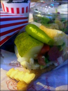 photo of Chicago-style hot dog