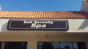 image front of Salt Serenity Spa business sign