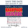 3rd Annual Backpack Brigade 2017