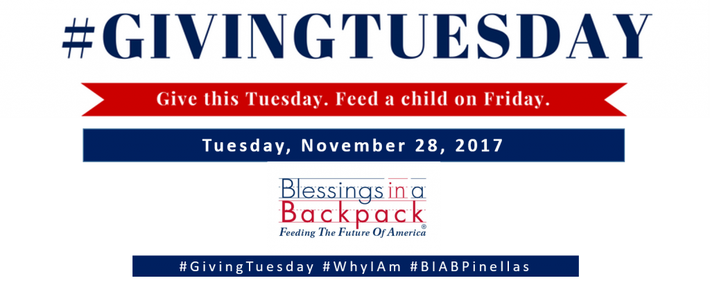GivingTuesday logo for Blessings in a Backpack