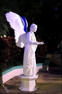 White Angel Human Statue