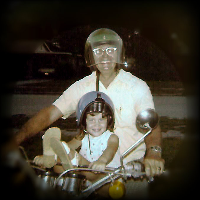 image of grandfather and me on motorcycle